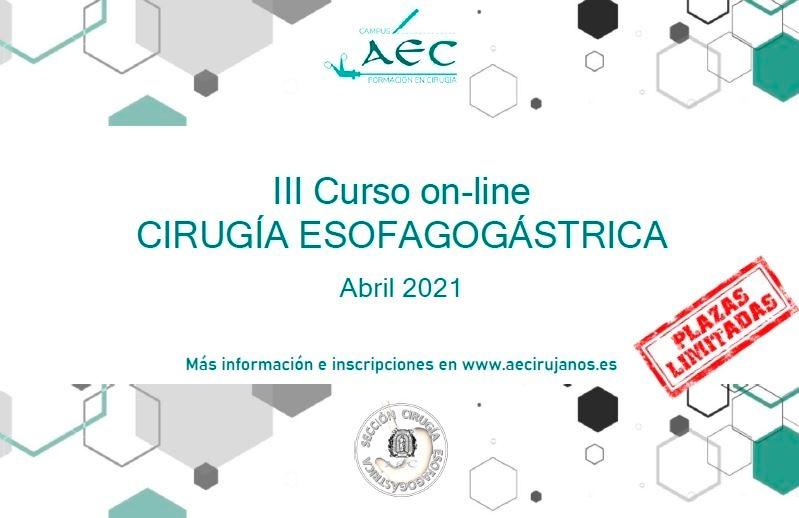 III Curso Online cirugía Esofagogástrica 2021